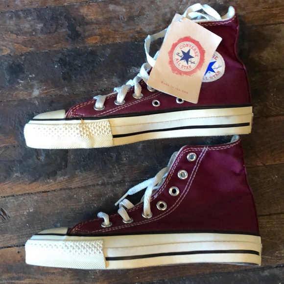 66ab76d168da73 Vtg 80 s Converse Chuck Taylor USA made high tops